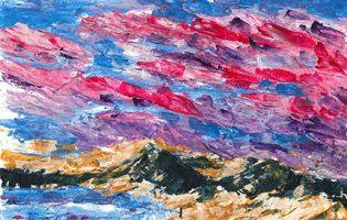 Hawks Nest after Rae-Lee – acrylic on paper (c) Jennifer Mosher