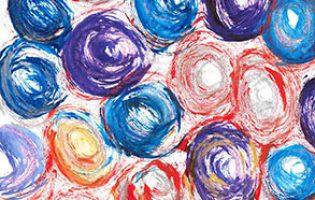 You Spin Me Round – acrylic on paper (c) Jennifer Mosher