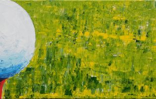 Tee Time – acrylic on stretched canvas (c) Jennifer Mosher