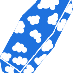 Coffin with clouds
