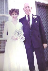 Wedding day - Jennifer Mosher with father, Hugh Butler